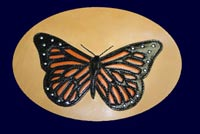 Handcrafted Monarch Butterfly Inlay