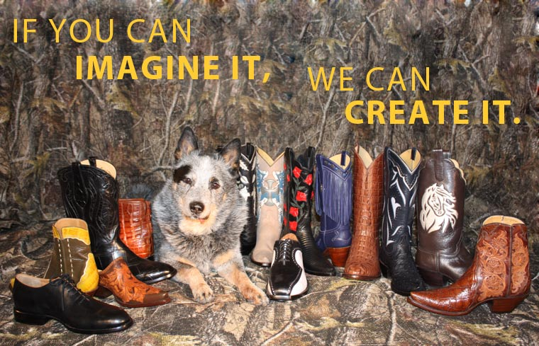Harlan with Custom Made Boots - if you an imagine it, we can create it