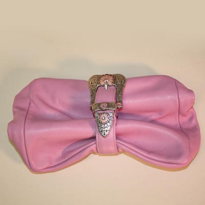 Handmade Pink Clutch Purse