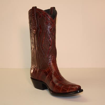 Torino Cognac Alligator Smooth Tail Custom Cowboy Boot