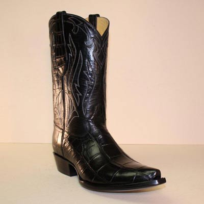 Black Alligator Smooth Tail custom cowboy boot