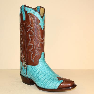 Lugus Mercury Handmade Boots - Custom Cowboy Boots - Turquoise