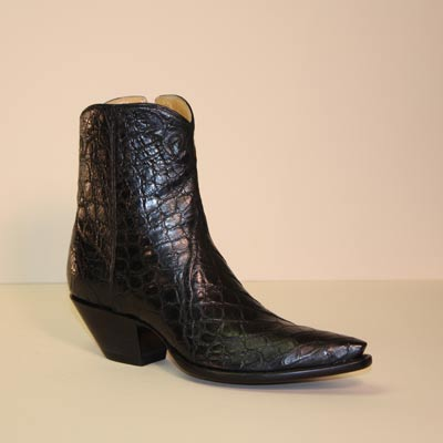 Black Alligator Belly Custom Botine