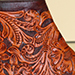 full custom hand tooled cognac botine boot