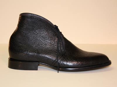 Black Taurus Bull Shoulder Custom Men's Shoe
